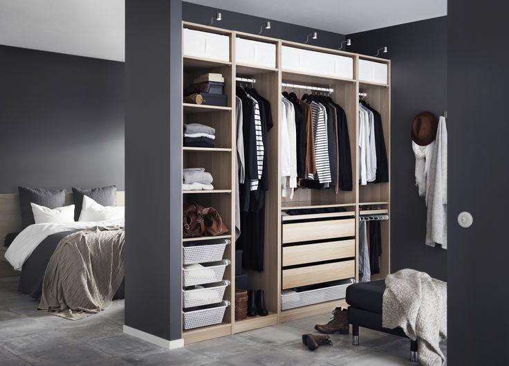 PAX garderobekast | IKEA IKEAnederland wooninspiratie inspiratie slaapkamer walkincloset garderobe kleding opruimen opbergen kledingkast