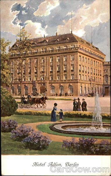 Vintage postcard: Early 1900's Hotel Adlon -- Berlin, Germany