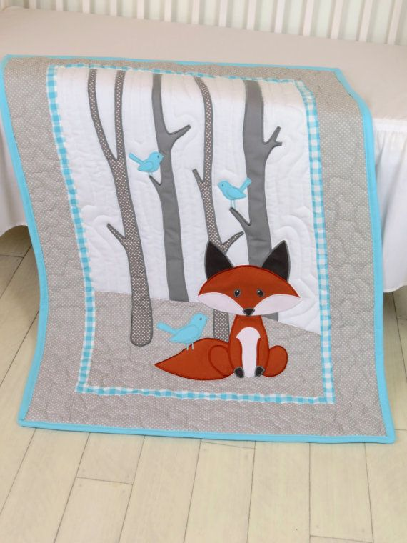 Fox courtepointe de couverture couette par Customquiltsbyeva