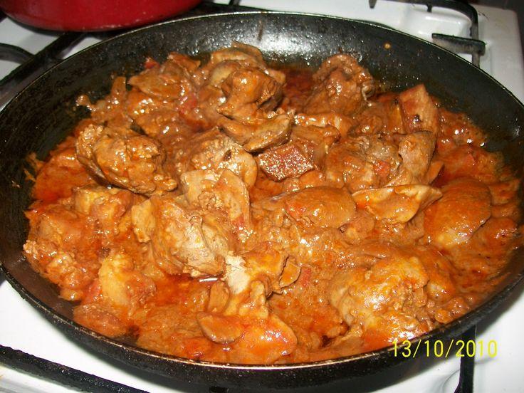 Retete culinare : Ficatei la tigaie in sos tomat, Reteta postata de nico15 in…