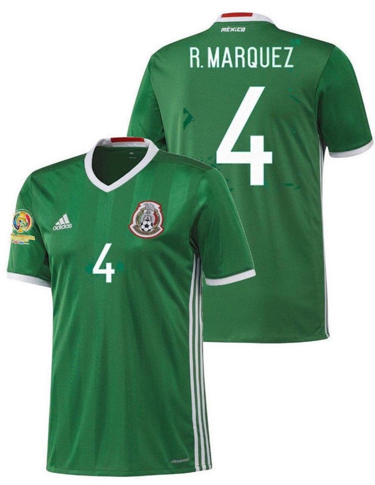 ADIDAS RAFAEL MARQUEZ MEXICO HOME JERSEY COPA AMERICA 2016 PATCH.
