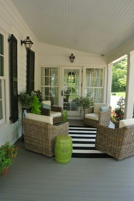 1000 images about sittin 39 on the porch on pinterest for Covered front porch decorating ideas