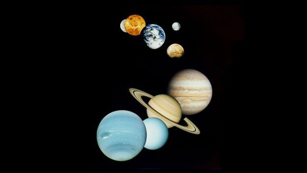 Planeetat. Etualalla Neptunus. Kuva: Yle kuvapalvelu / Robesus Inc.
