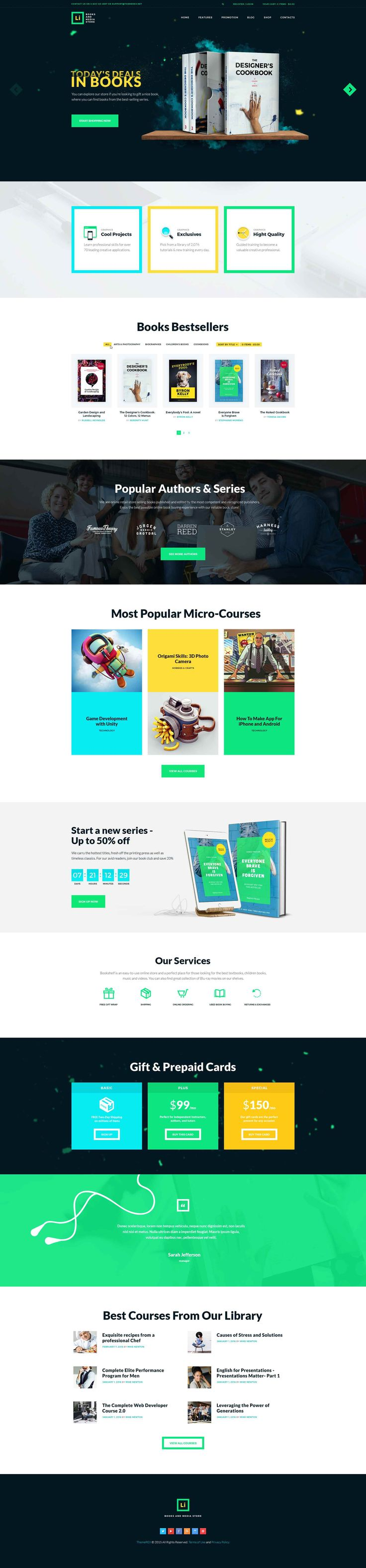 Lorem Ipsum is a WordPress theme that will be a splendid solution for your online bookstore. The theme is ideal for online websites selling any media products, like audio and electronic books, music, movies, video games or micro courses. You can easily us…