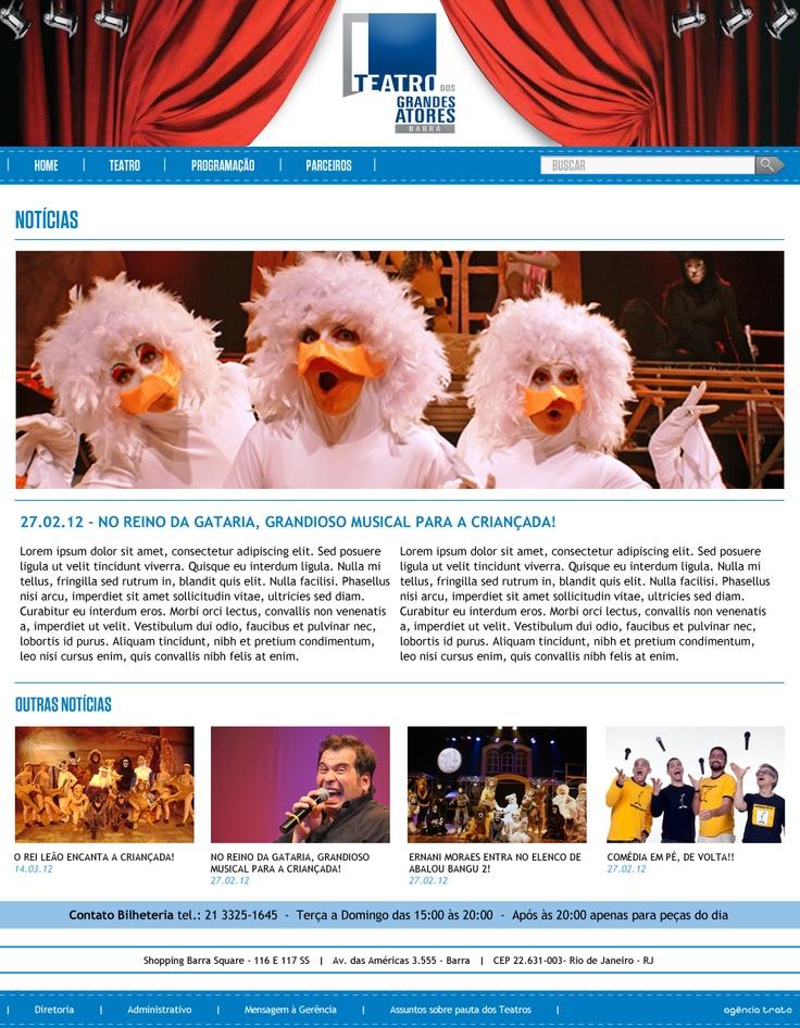 página Notícias
