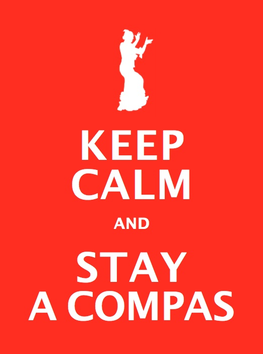 Keep calm and stay a compas