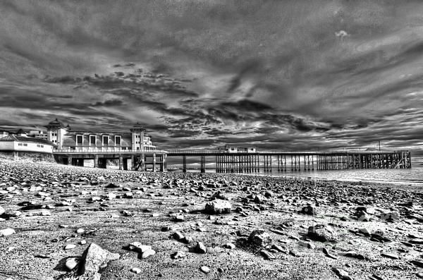 Stunning black and white #photograph of #PenarthPier #Penarth by Steve Purnell