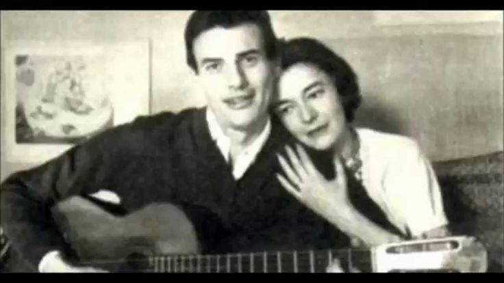 Christine Sévres et Jean Ferrat (sa première épouse)