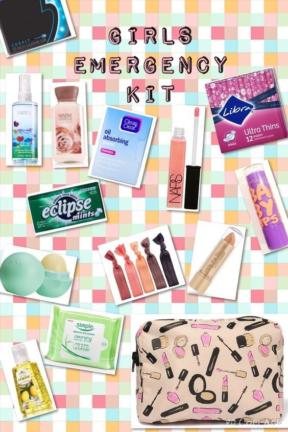 Girls emergency kit for back to school!!! Good to keep handy in your locker, it could come in handy to you or your friend