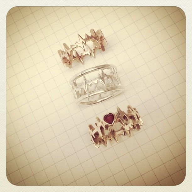 EKG rings! Ohhh I want to find a place that will make my rhythm into one!!