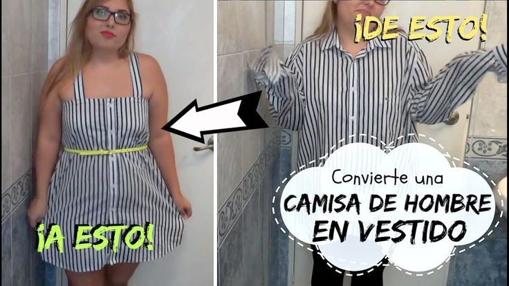 Haz un vestido desde una camisa de hombre (DIY) - Cose tu propia ropa FÁCIL