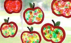 Appelraamfoto's maken met tissuepapier …  – Kita