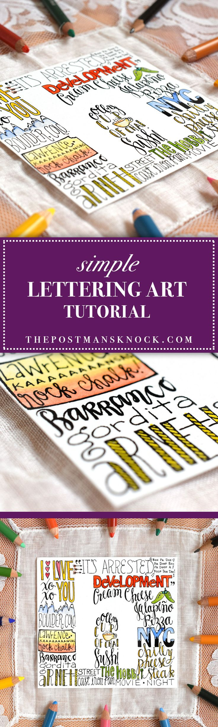 Quick tutorial to add personality to a DIY gift tag, mail art, stationery, or to make art for your home!