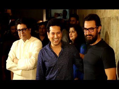 Sachin Tendulkar & Raj Thackeray at the Aamir Khan's DANGAL movie screening.