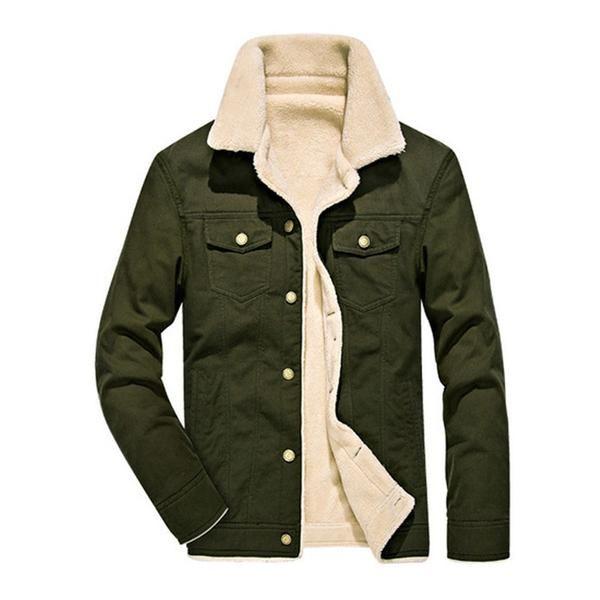 Hajotrawa Boys Warm Faux Fur Lined Fleece Hooded Thicken Jacket Parka Coat