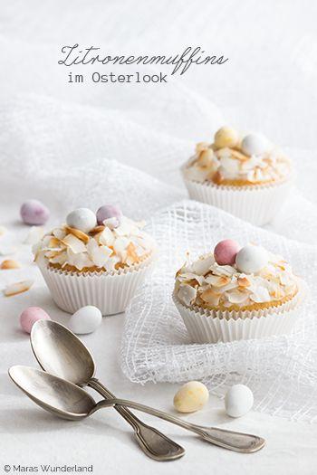 Osterliche Zitronenmuffins #Ostern #Osterrezepte