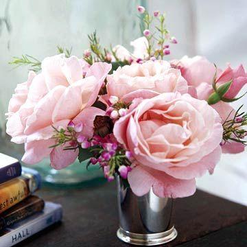Rose Cups Centerpieces