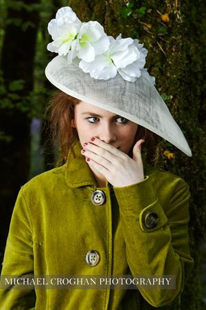 A fashion shoot, was to plug yes the beautiful shaped hat you see, & with a young model, who has a fantastic Irish look, all natural was lucky on many a things with this shoot