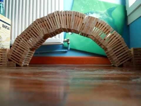 ▶ Comprobación practica de como se construye un arco de medio punto con KAPLA