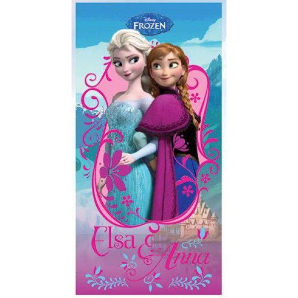 Flot badehåndklæde fra den populære film Frost skabt af Disney. Som motiv på håndklædet ses søstrene Anna og Elsa. Badehåndklædet måler 140 cm x 70 cm og er i 100% bomuld.