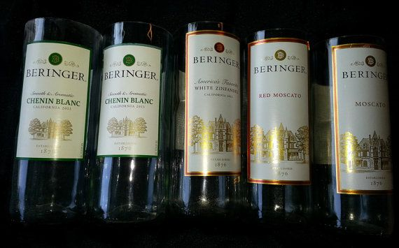 Beringer Wine Bottle Candles  Chenin Blanc White by CandlesByOC, $16.00