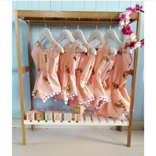 Kmart Hack | Our Urban Box Kmart towel rail for little girls clothes!
