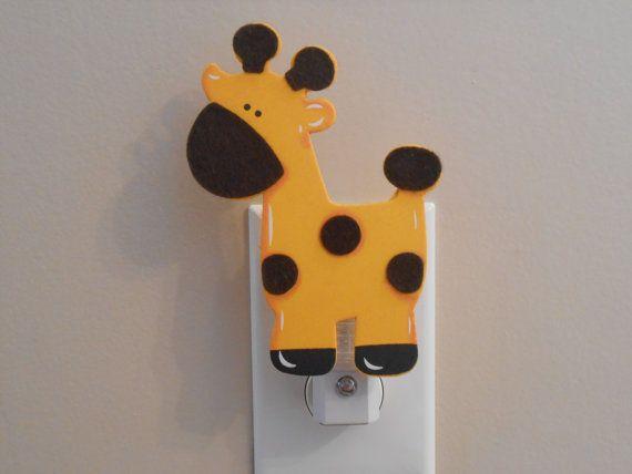 Giraffe Night Light  Baby Nursery  Giraffe   Boy by LaurenAnnaLei, $12.00