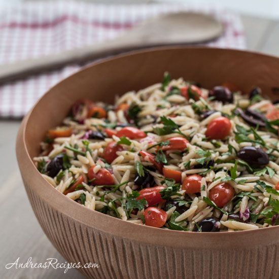 Mediterranean Orzo Salad--- making this for a cold dinner on this hot summer night!