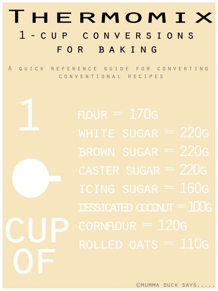 1 cup conversions for thermomix