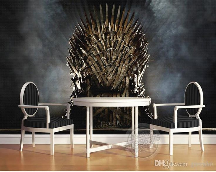 game of thrones wallpaper iron throne wall murals custom. Black Bedroom Furniture Sets. Home Design Ideas