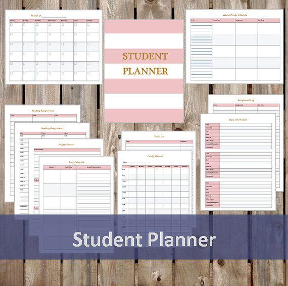 Undated Student Planner  Student Organizer  by ElizabethEtiquette