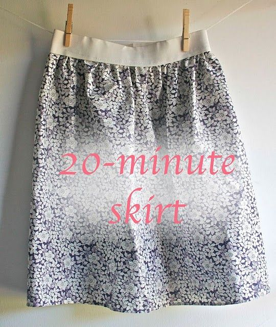 20 minute skirt- my sisters will love this as a gift! Just right to use my fabric stash.