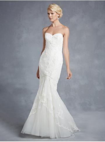 Pouzdrové / Tužkové Srdíčko Elegantní & luxusní Svatební šaty 2015