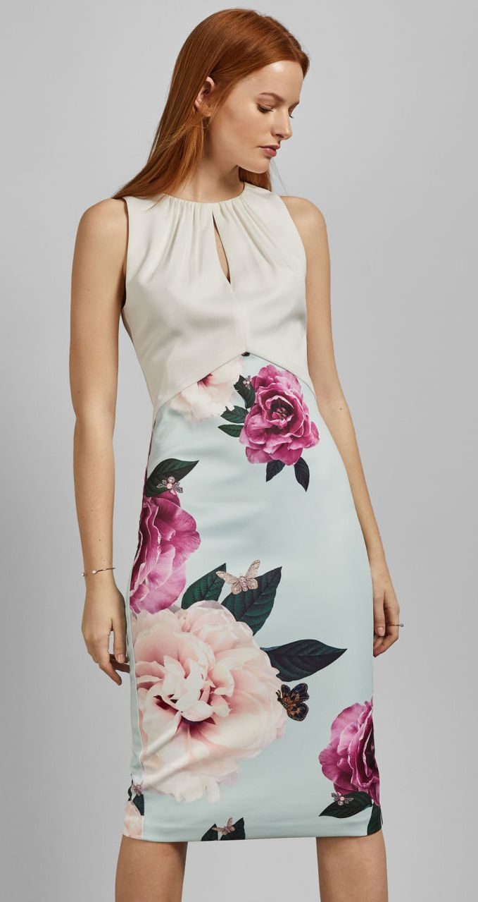 f909907f61de0 Mint and Pinks floral Sheath Dress. Dress for the Kentucky Derby. Spring  Summer floral