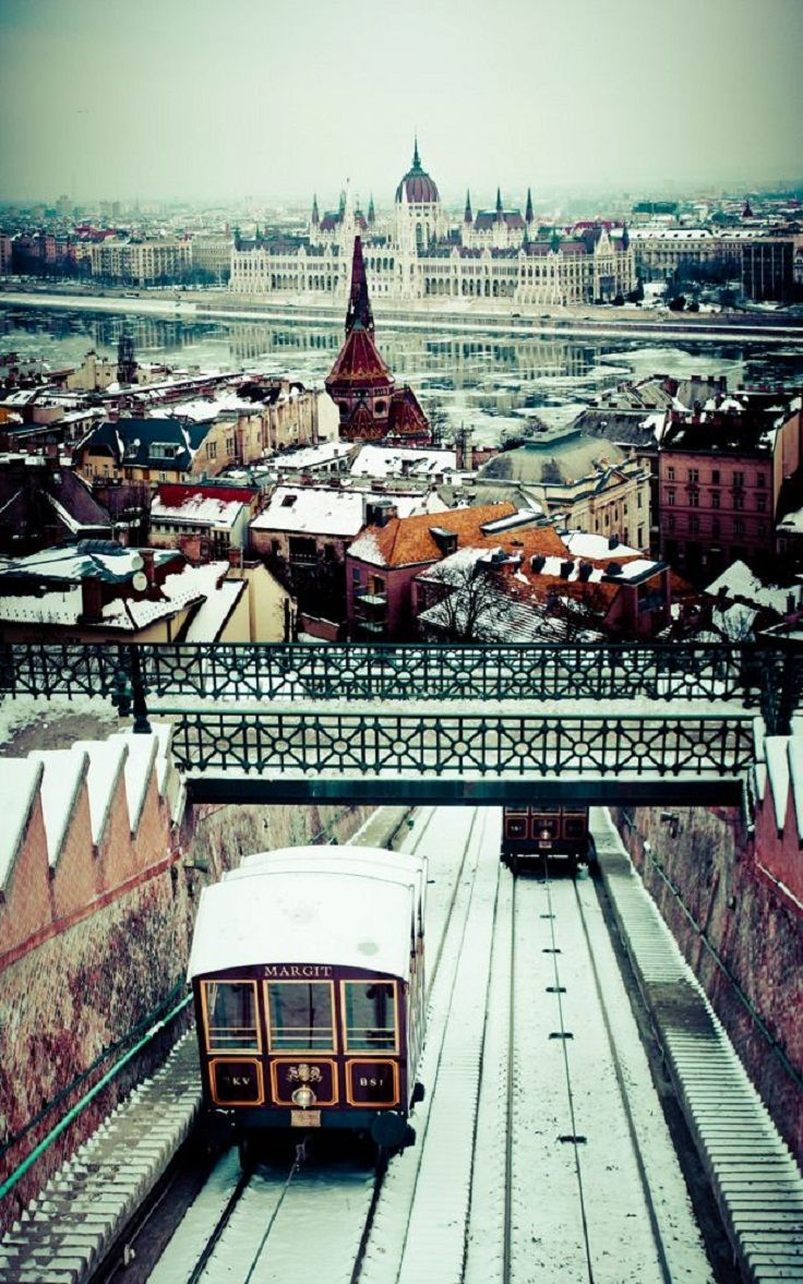 Budapest, Hungary, in winter.