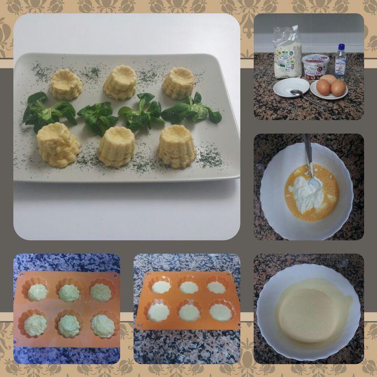 Ingredientes 1 tarrina de queso fresco batido 0% (120ml) 20 gramos de harina de avena 1 huevo entero + 60ml de clara (2 claras) Edulcorante y Sal Preparación: Mezclar todos los ingredientes, la for…