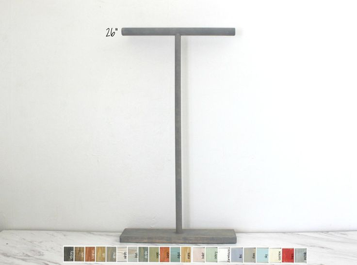 26-inch Necklace display Tbar available in several colors. Handcrafted by ArrayandDisplay.com