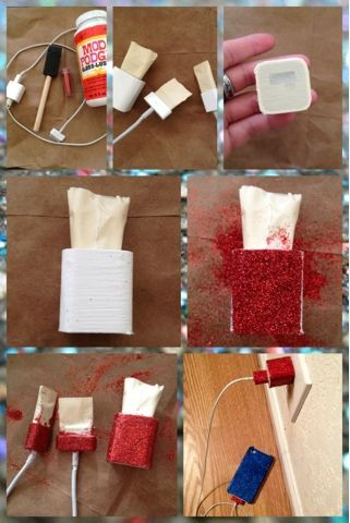 ❤ God, Glitter, and Grace ❤ : DIY Glitter Phone Charger