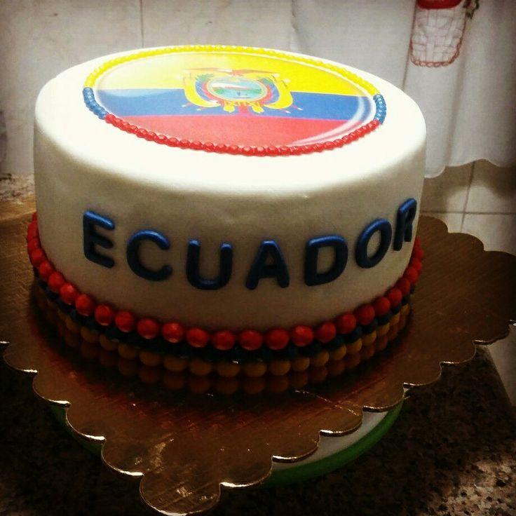 Torta bandera Ecuador