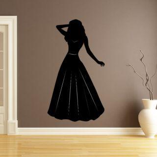 Наклейка для дома от 2stick.ru Силуэт сказочной принцессы