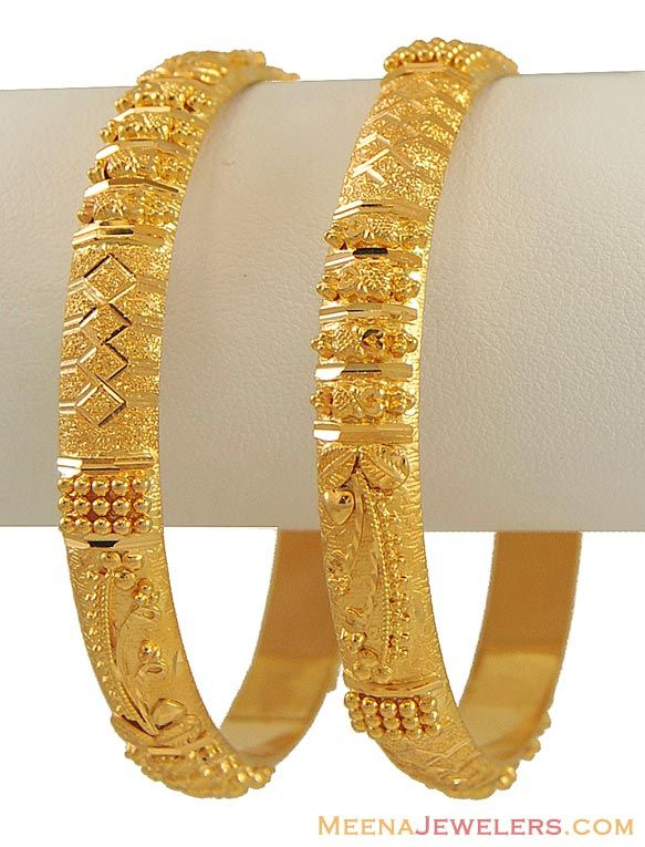 Indian Gold Jewellery USA   GOLD INDIAN BANGLES - BANGLES & ANKLETS