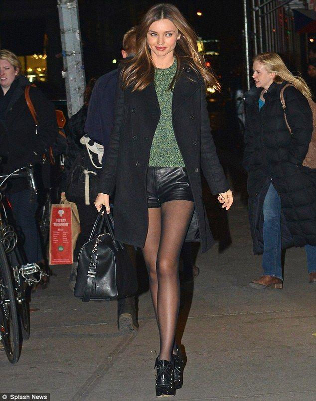 Miranda Kerr leaves a photo shoot in New York.