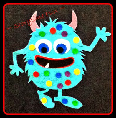 Storytime ABC's - I'm a Little Monster with polka dots