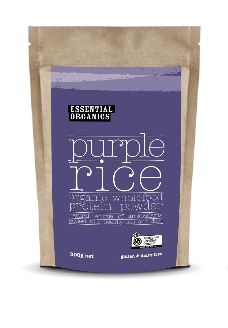 COMING SOON!  Vegan whole purple rice powder