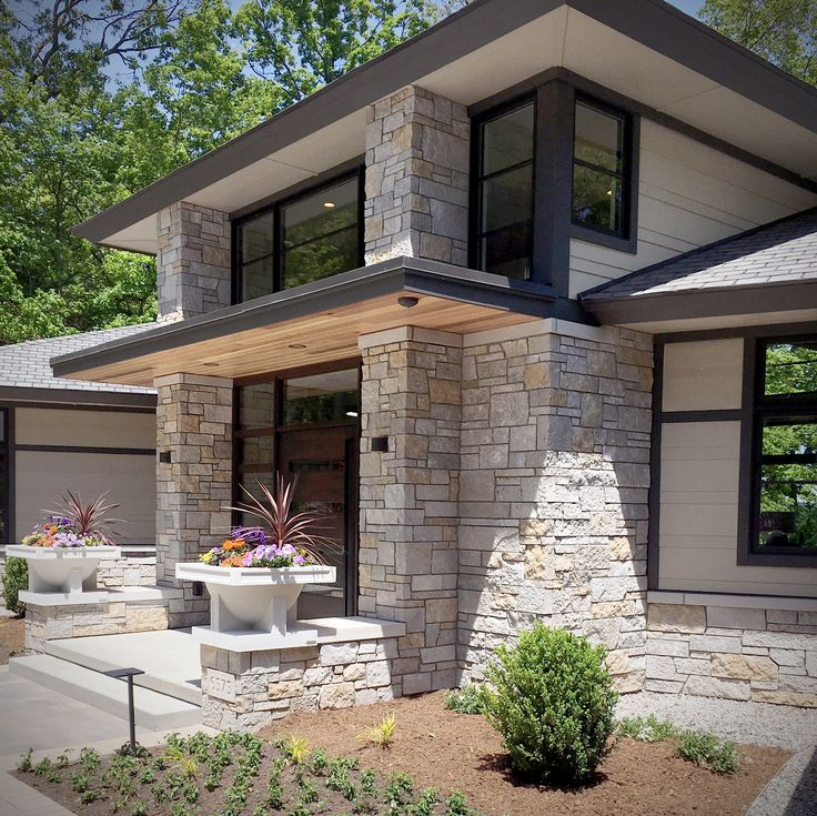 Tailored Blend Modern Stone Home