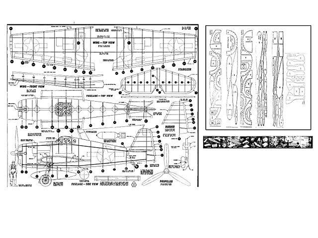 Grumman Hellcat F6F - plan thumbnail