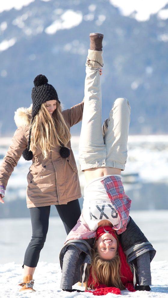 красивые зимние фотографии с подругой поздравления днем рождения
