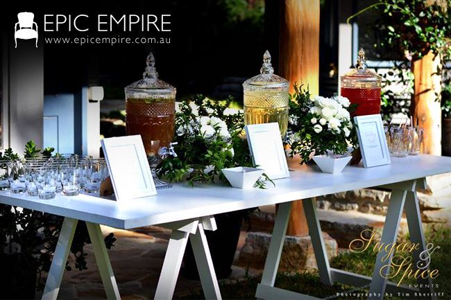 Check out Epic Empire's Trestle A-Frame Wooden Table. Classic and timeless. Just the table you need for any event! #furniturehire #furniture #events #weddings #australia #brisbane #queensland