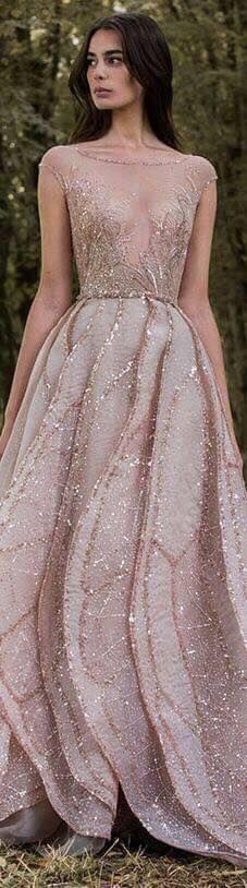 vestidos-de-moda-color-nude (19) - Beauty and fashion ideas Fashion Trends, Latest Fashion Ideas and Style Tips