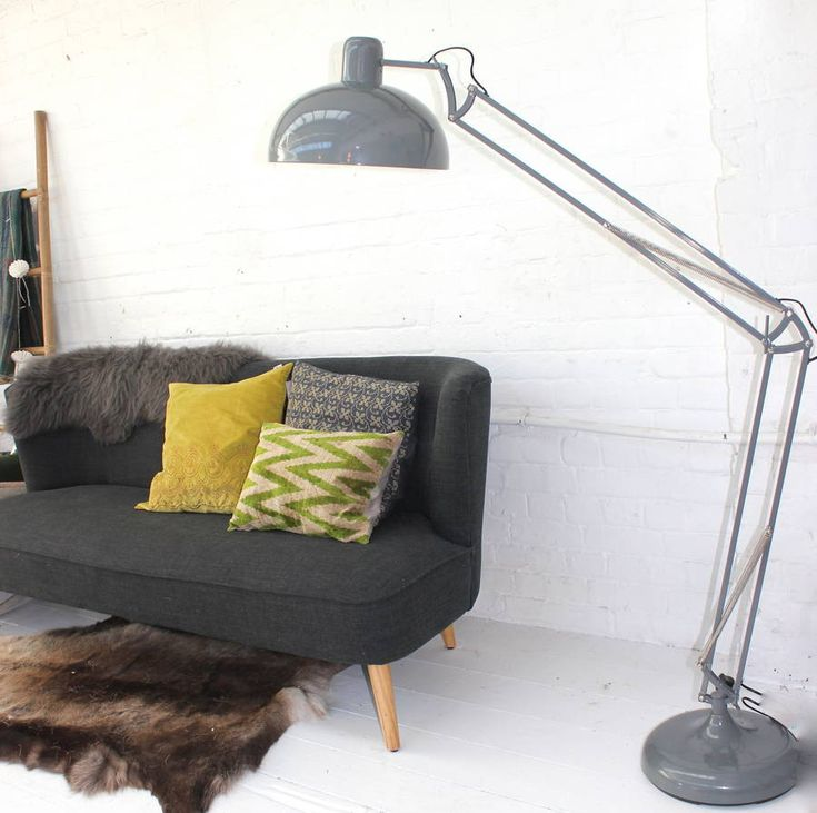 soft grey floor lamp by the forest & co | notonthehighstreet.com